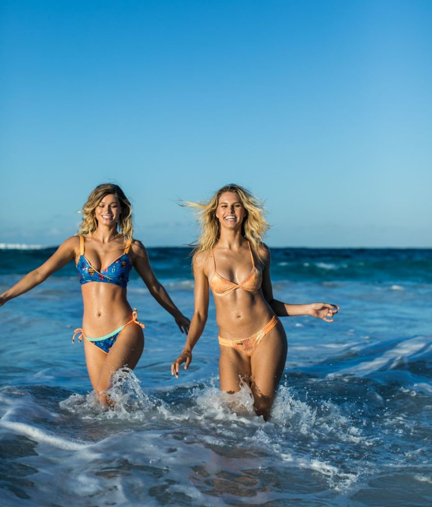 Bikini campaign photographed ib the Bahamas with Maggie Rawlins & Natalie Roser by Samuel Black